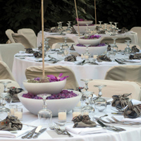 ::Reception tables arrangements