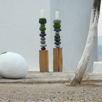 ::'Pebbles' -  minimal wedding decoration - Spetses Island