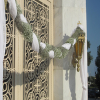 ::Braid of gypsophylle - church decor