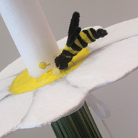 ::'Busy bee' - baptism candle
